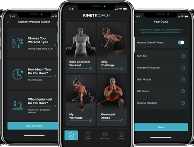Custom workout builder app